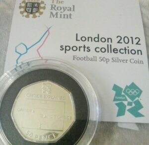 2011 football 50p silver proof