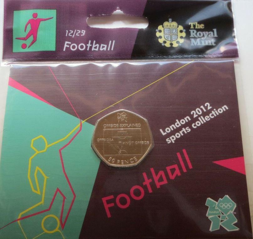 football 50p brilliant uncirculated