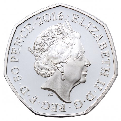 Jemima Puddle-Duck 50p Silver Proof 2016 Obverse