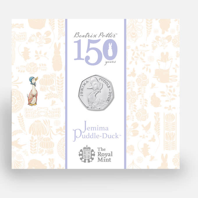 jemima puddle duck 50p bu 2016