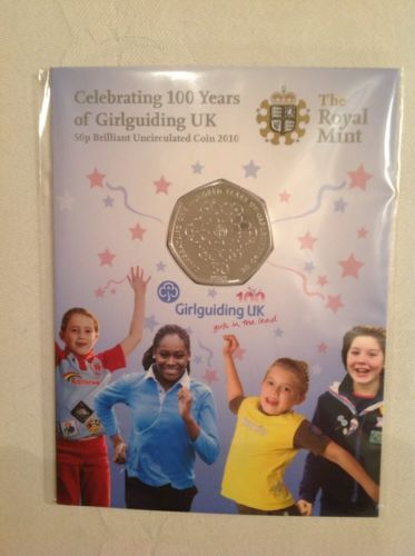 100 Years of Girlguiding 50p BU