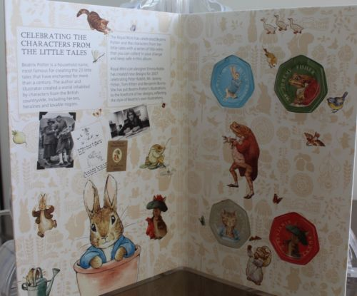 2017 Beatrix Potter 50p Coin Collector Album