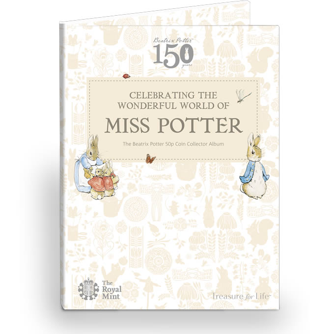 BEATRIX POTTER 50p Coin Collector Album