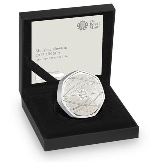 Isaac Newton 50p Piedfort Silver Proof Coin 2017