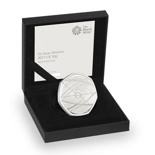 Isaac Newton 50p coin 2017 Silver Proof Coin