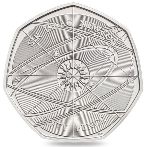 Isaac Newton 50p Coin