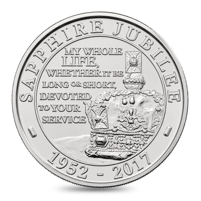 The Queen's Sapphire Jubilee Coin