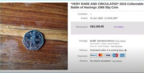 Battle of Hastings 50p value