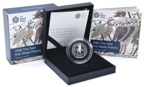 battle of hastings silver proof 50p