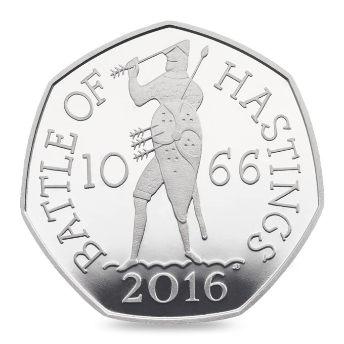 battle of hastings silver proof coin reverse