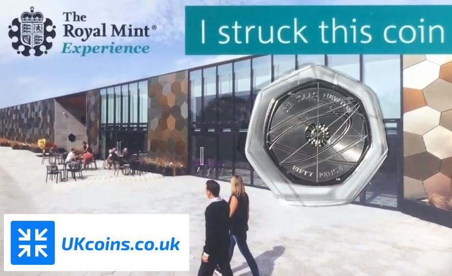 isaac newton 50p strike your own coin card 2018