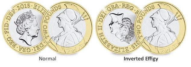 Inverted Effigy £2 Britannia Error Coin