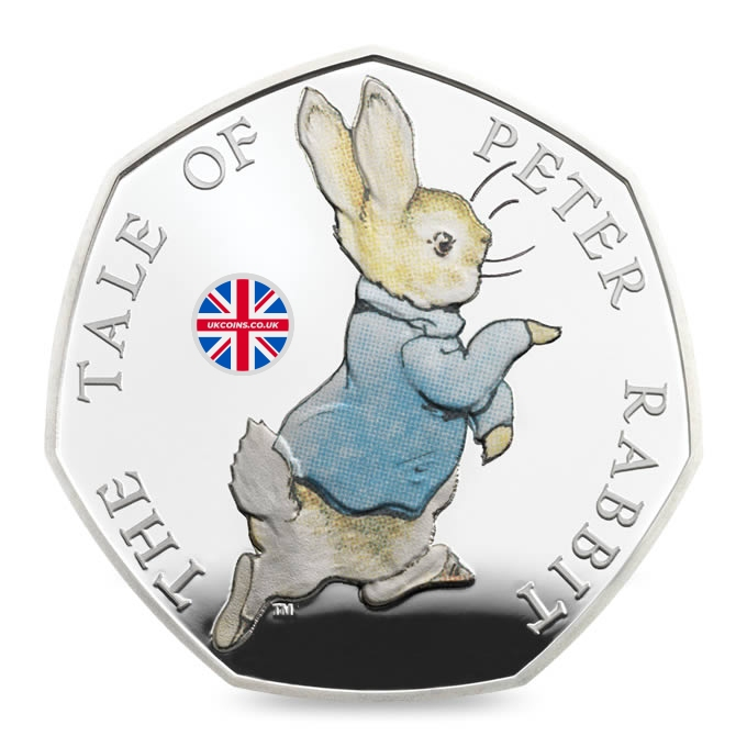 2017 Peter Rabbit 50p Silver Coin