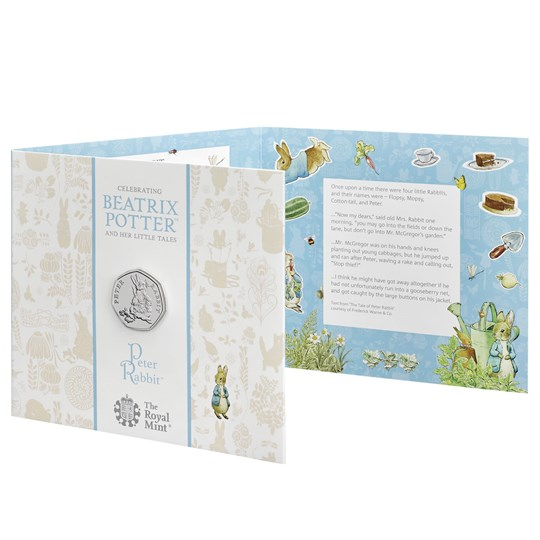2018 peter rabbit 50p coin pack