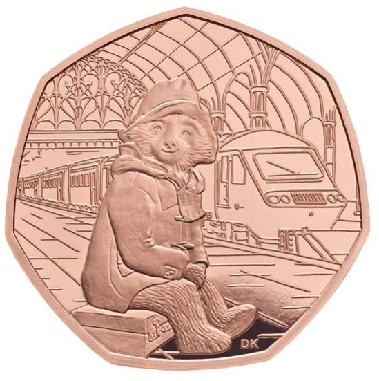 Paddington at the station gold proof coin