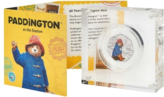 Paddington at the Station 50p Silver Proof Coin
