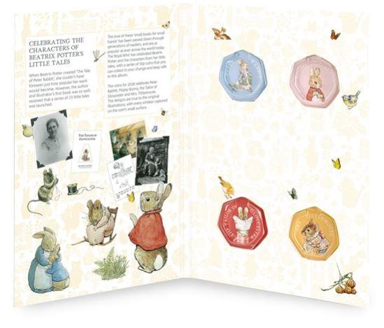 Beatrix Potter 50p Coin Collector Album