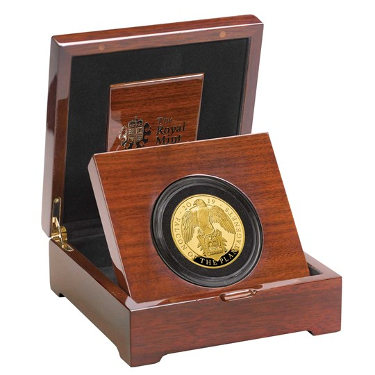 Falcon of the Plantagenets 2019 UK Five-Ounce Gold Proof Coin