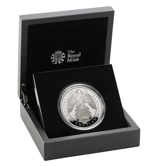 Falcon of the Plantagenets 2019 UK Five-Ounce Silver Proof Coin