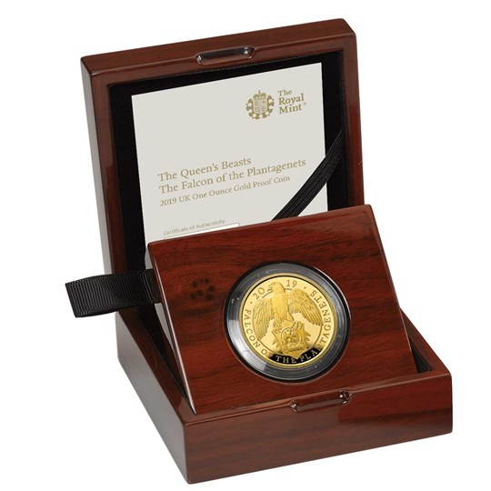 Falcon of the Plantagenets 2019 UK One-Ounce Gold Proof Coin