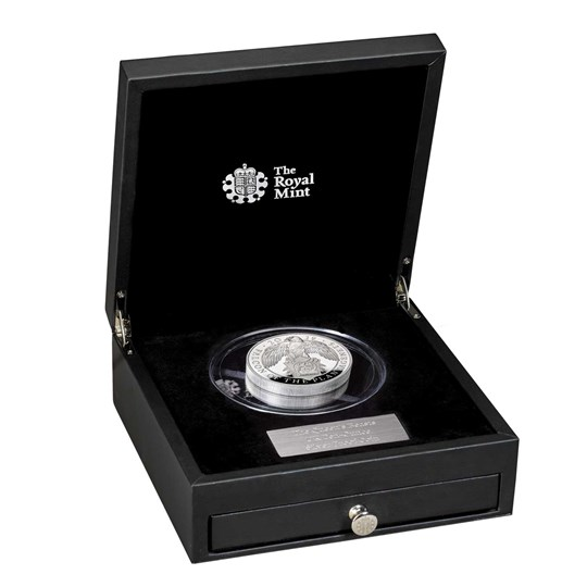 Falcon of the Plantagenets 2019 UK Ten-Ounce Silver Proof Coin