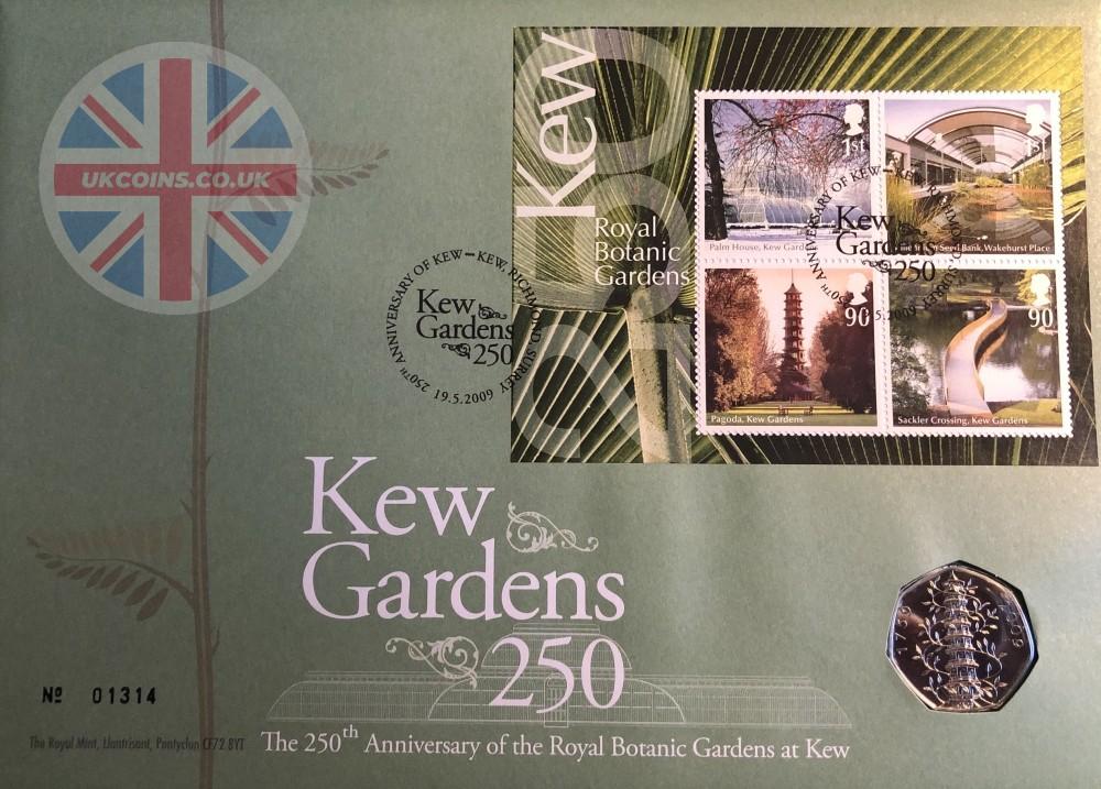 2009 Kew Gardens 50p PNC