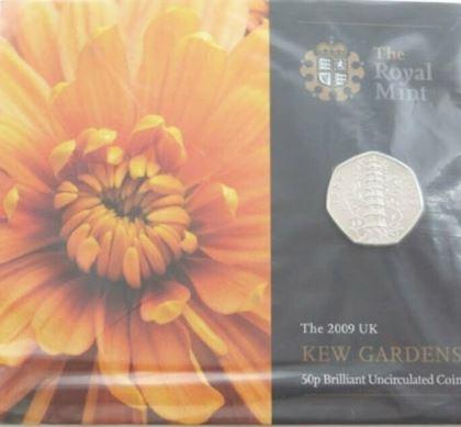 2009 Kew Gardens 50p bu coin pack