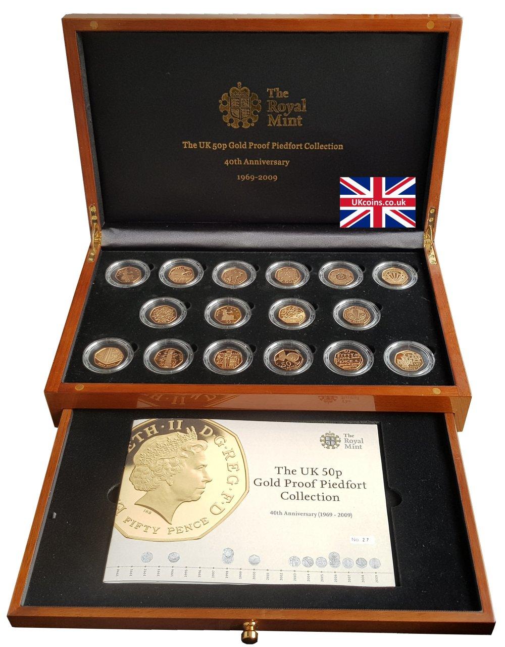 2009 Piedfort coins