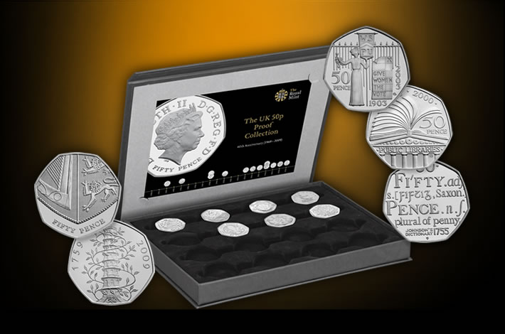 2009 40th Anniversary 50p Base Proof Collection