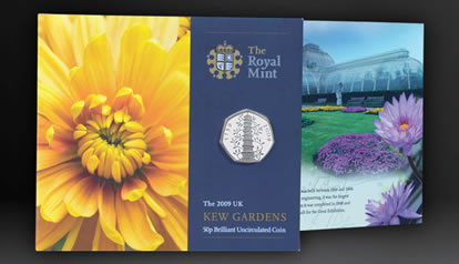 2009 Kew Gardens 50p Brilliant Uncirculated Coin