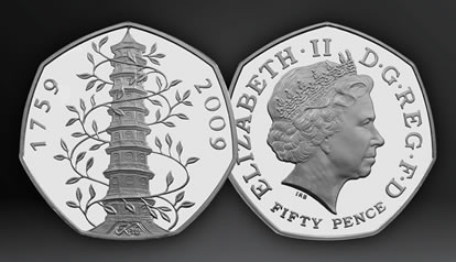 2009 UK Kew Gardens 50p Brilliant Uncirculated Coin
