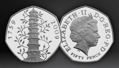 2009 UK Kew Gardens 50p Brilliant Uncirculated Coin