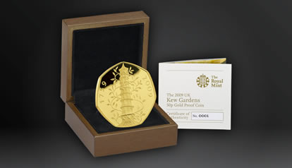 2009 Kew Gardens 50p Gold Proof Coin