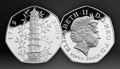 2009 UK Kew Gardens 50p Silver Proof