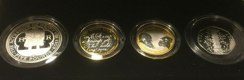 4-coin silver proof piedfort