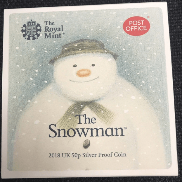 snowman 50p post office edition