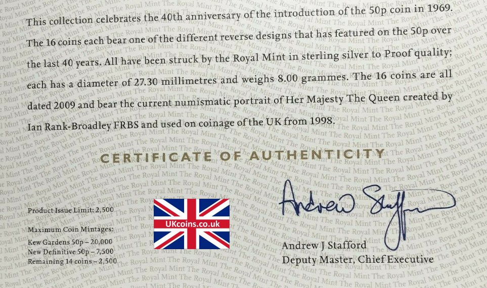silver proof collection coa signed