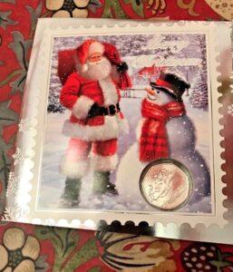 Snowman 50p Christmas Card