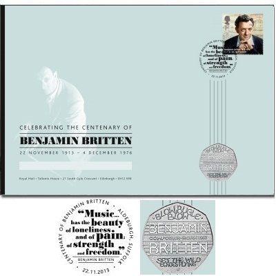 benjamin britten coin and stamp