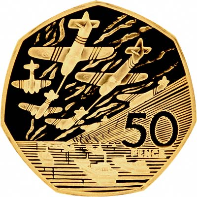 D-Day 50p Gold Proof