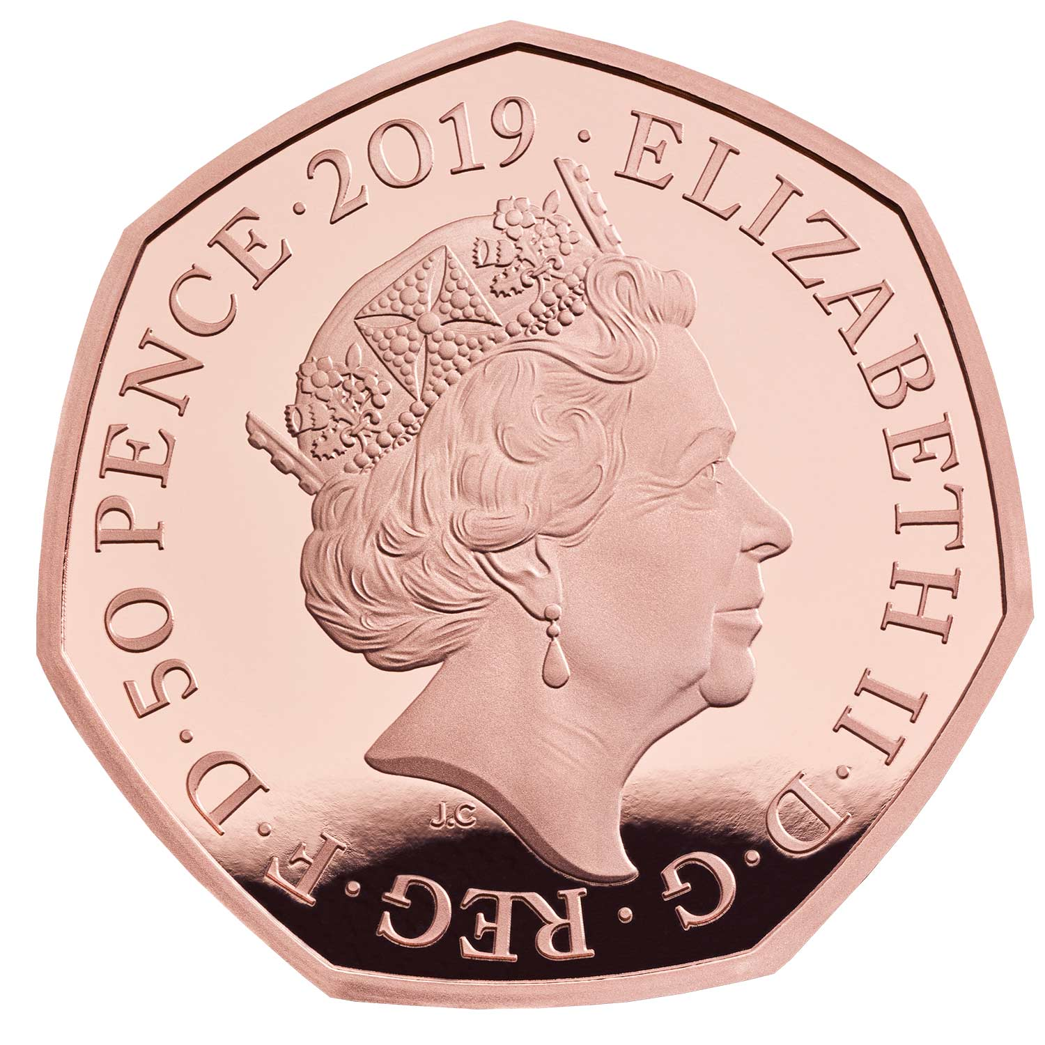 2019 Common Obverse 50p Gold Proof
