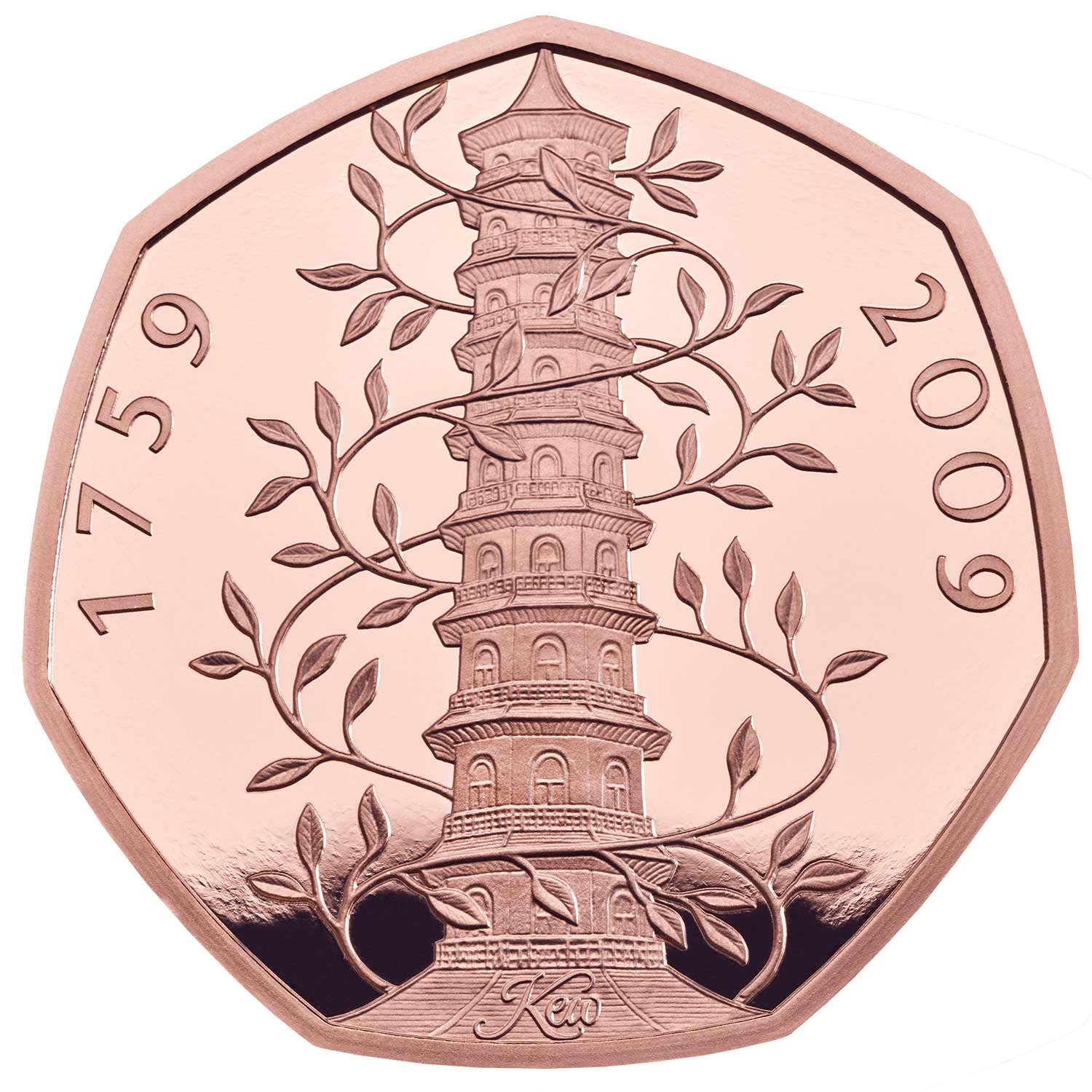 2019 Kew Gardens 50p Gold Proof