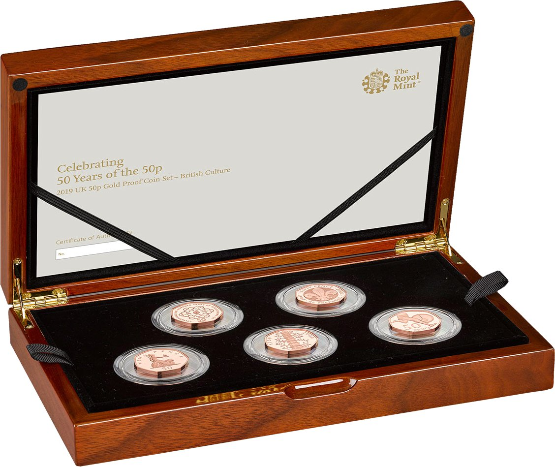 50 years 50p gold proof coin set