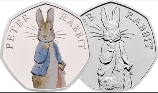 2019 Peter Rabbit 50p coin