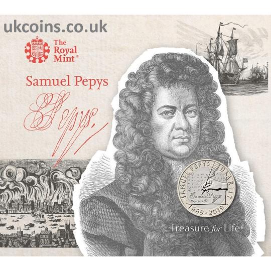 Samuel Pepys BU Coin Pack