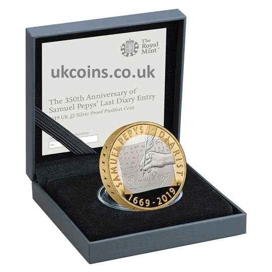 Silver Proof Piedfort £2 Coin