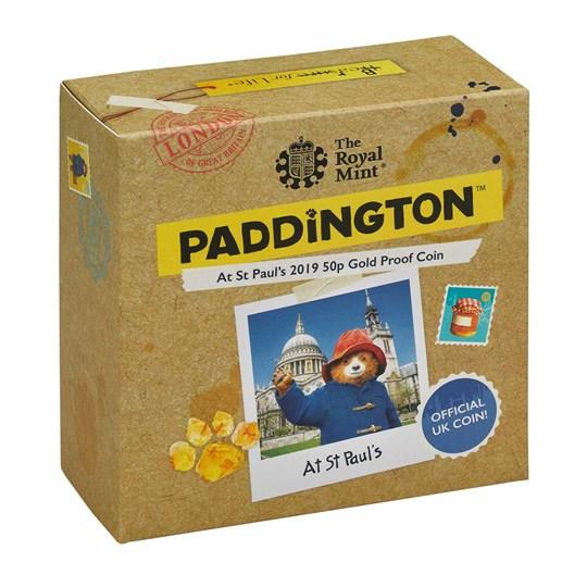 paddington at st pauls 2019 uk 50p gold proof box coa