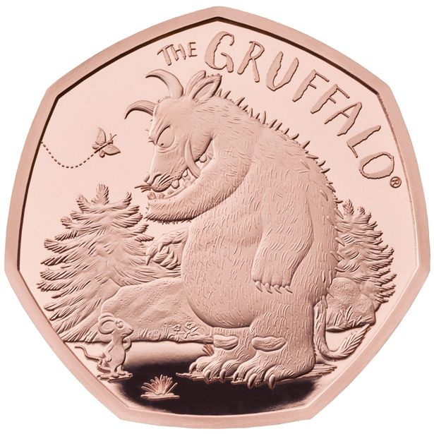 The Gruffalo and Mouse 50p Gold Coin