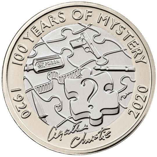Agatha Christie £2 coin
