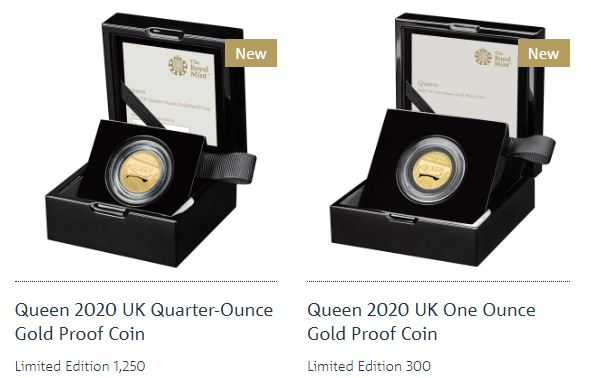 queen gold proof coins